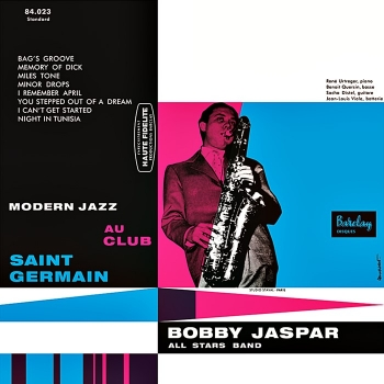 bobby jaspar - modern jazz au club saint germain (33rpm lp)