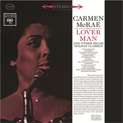 carmen mcrae - lover man & other billie holiday classics (33rpm lp)