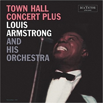louis armstrong - town hall concert plus (33rpm lp)