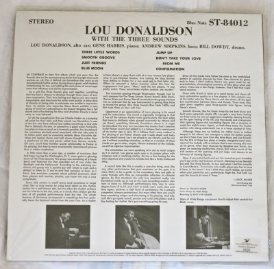 lou donaldson with the three sounds - ld+3 (2 x 45rpm lp)