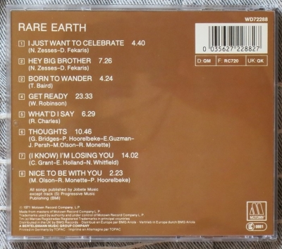 rare earth - in concert (cd)