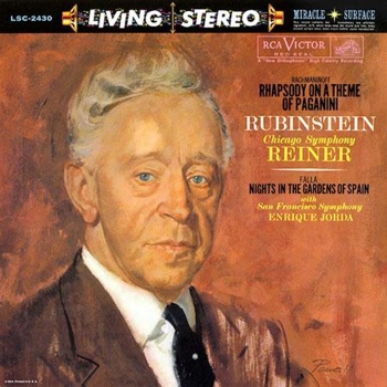 rachmaninoff - rhapsody on a theme of paganini (33rpm lp)