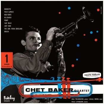 chet baker quartet - featuring dick twardzik (33rpm lp)