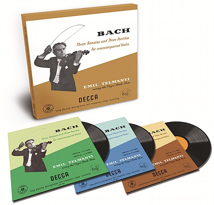 bach - partitas & sonatas for unaccompanied violin (3 x 180gr lp box)