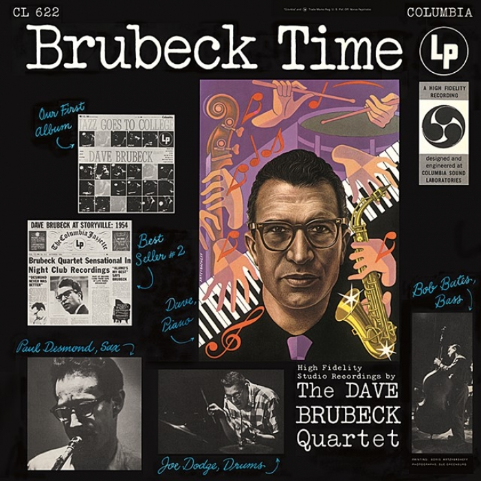 dave brubeck quartet - brubeck time (33rpm lp)
