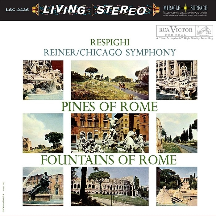 respighi - pines of rome, fountains of rome  (33rpm lp)